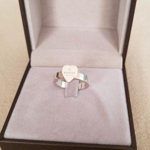 15c8d45bdb8e3b Gucci Jewelry | Trademark Heart Ring Sz 65 | Poshmark